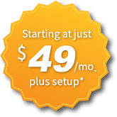Websites starting at just $49 a month.